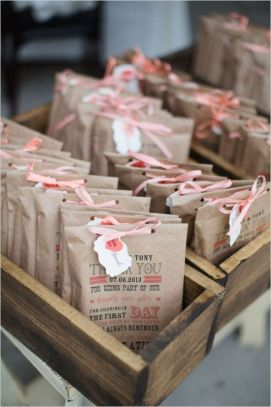 Favors with Four O'Clock Flower Seeds