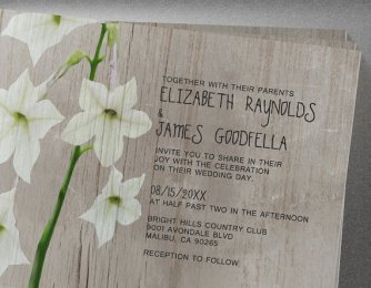 Jasmine Wedding Invites