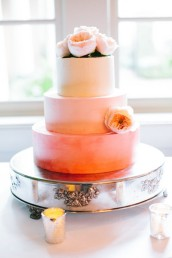 ombre wedding cake sunset