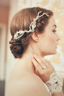 bridal crystal hair accessory