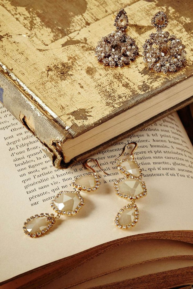 downton inspired crystal earrings