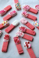 Easy Valentine's Day Wafer Cookies