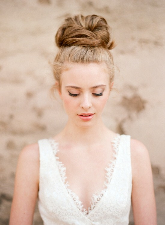 high bun wedding