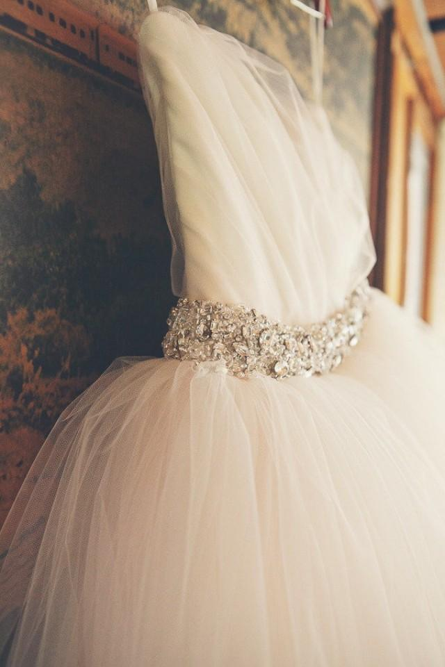 tulle wedding gown princess