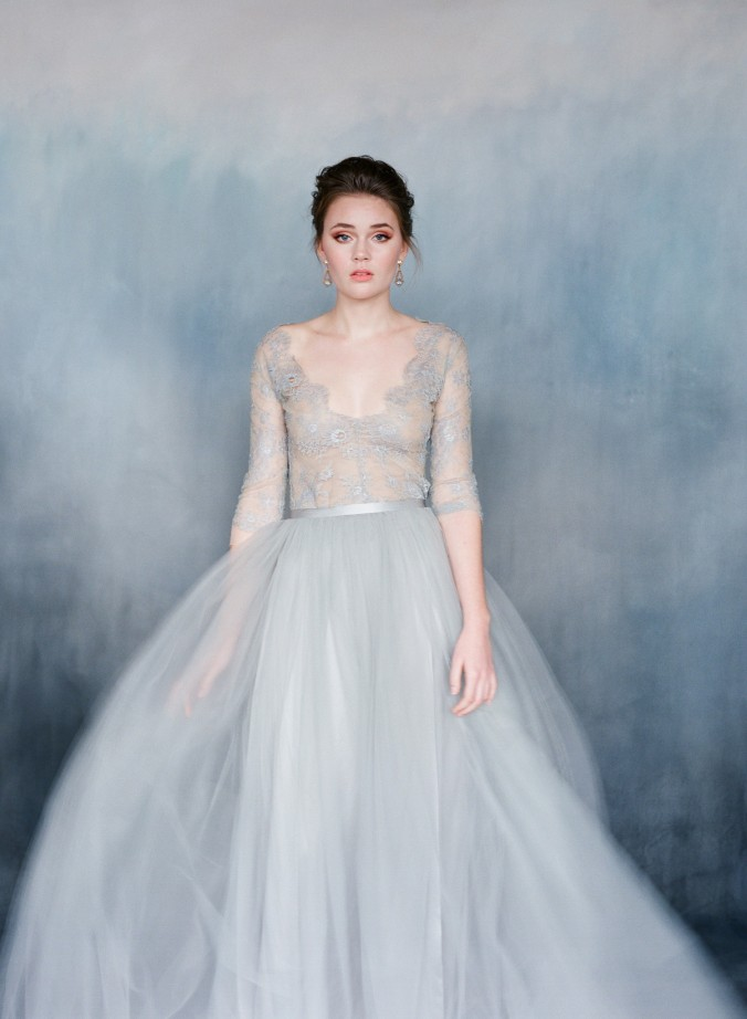 blue wedding dress princess (2)