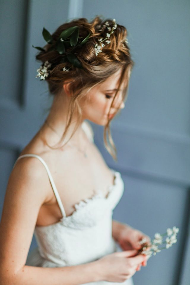 wedding updo with braids